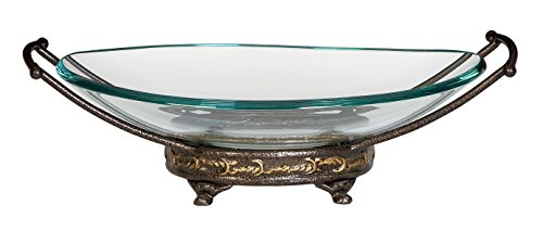 Deco 79 Glass Metal Bowl, 17 by 5-Inch by Deco 79