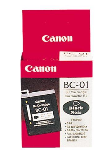 Canon BC-01 Inkjet Cartridge (F45-0014-410, Black) Canon Bc 20 Black Cartridge