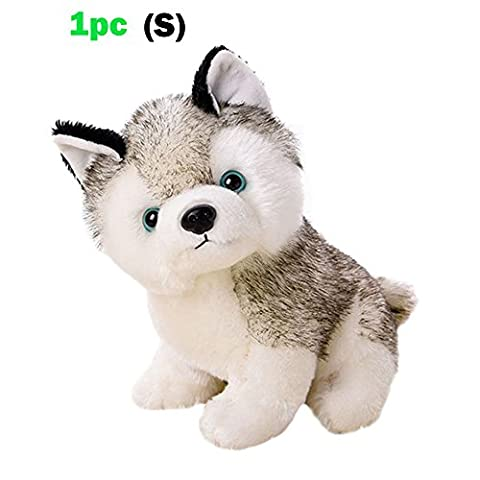 Husky Dog Baby Kids Plush Toys,White and Gray,3 Size for Choice Stuffed Animal Plush(1pc) - Siberian Husky Treat Jar