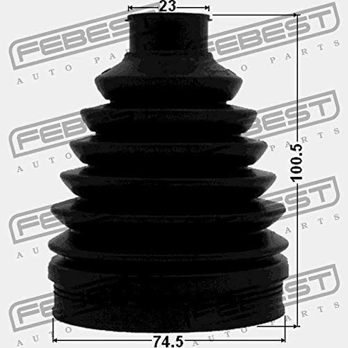 BOOT OUTER CV JOINT KIT 74.5X100.5X23 1217P-SOL2WD Febest