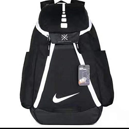 DeLamode American NBA Basketball Backpacks Travel Student Shoulder Bags BlackWhite