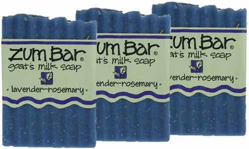 Indigo Wild: Zum Bar Goat's Milk Soap Bar, Lavender Rosemary 3 oz (3 pack)