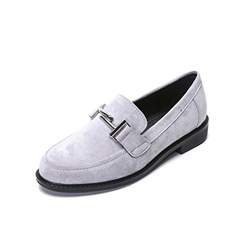 Mocassini Casual Da Donna Classici - Mocassini Alla Guida Morbidi Slip On Shoes 8802-2 Grigio