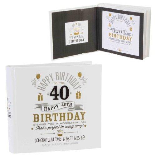 Signography - Álbum de fotos de 40 cumpleaños 4 x 6 (FL29940 ...