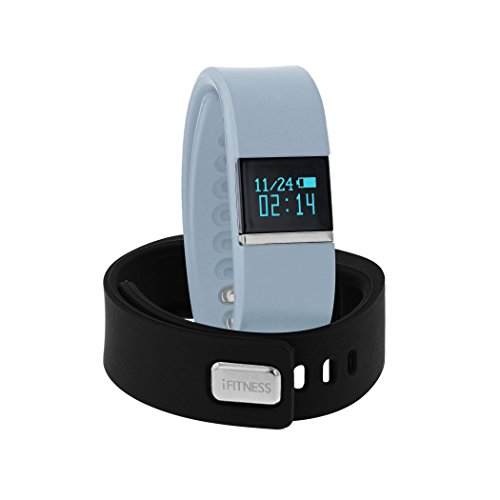 Fit Tracker i-Fitness Perfect Activity Pedometer Wireless Smart Bracelet Watch (LTBlue/Black)