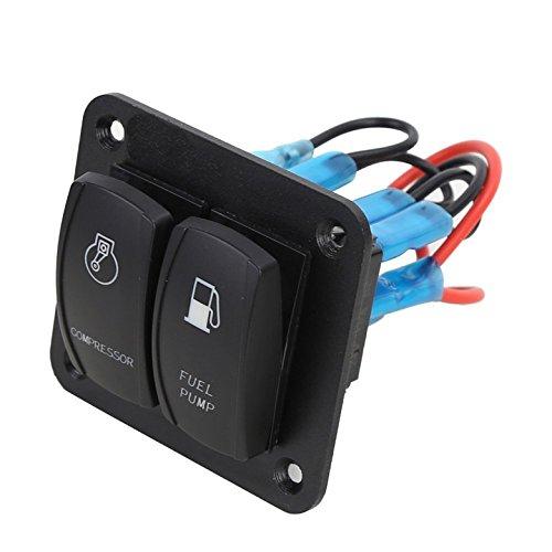 Meipire 2 Gang Auto Boot Marine Druckschalter Panel Geeignet f/ür On//Off Lichter oder Sitzheizung usw
