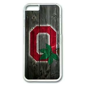 "iphone 5s Case,Ohio State Buckeyes Alternate Logo Wood Hard Shell Transparent Edges Case for iphone 5s("")"