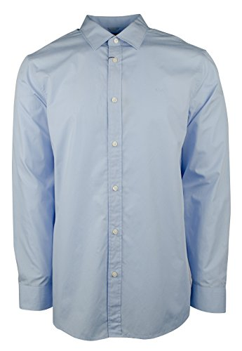 Michael Kors Men's Cotton Poplin Tailored Fit Button Down Shirt-SB-XXL (Mens Micheal Shirts Kors)