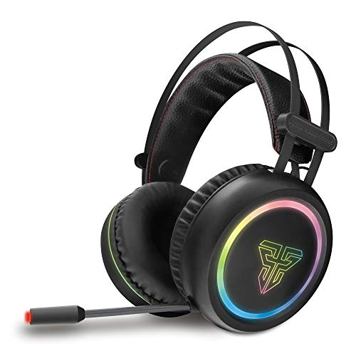 Channel Surround Sound Gaming Headset Stereo LED Headphones with Mic for Laptop Black ()