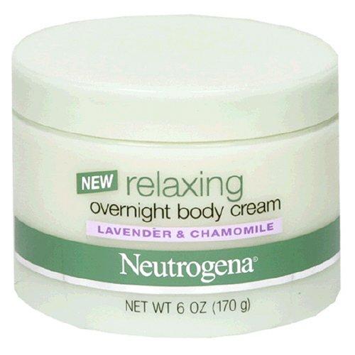 Neutrogena relaxant Crème Corps Nuit, lavande et de camomille, 6 onces