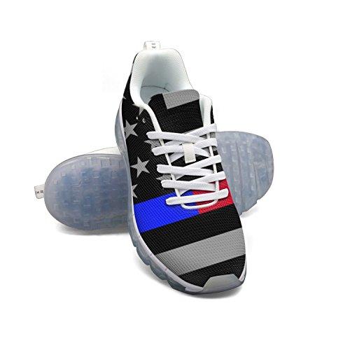 Linea Bandiera Americana Linea Rossa E Linea Azzurra Moda Uomo Leggero Mesh Cuscino Daria Sneakers Sneakers Da Basket