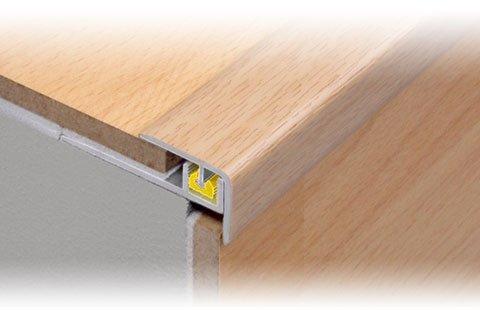 10/mm en bois de h/être Effet Clipper Step ALU POUR Escalier d/égustation Profil 0.9/m Dural 7