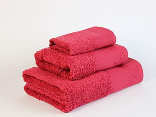 Flor de Algodón Panama Juego de 3 toallas algodón, BURDEOS, 30x50 ...