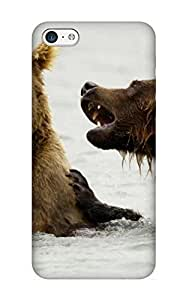 New Cute Funny Animal Bear Grizzly Bears Katmai National Park Alaska Case Cover/ Iphone 5c Case Cover For Lovers