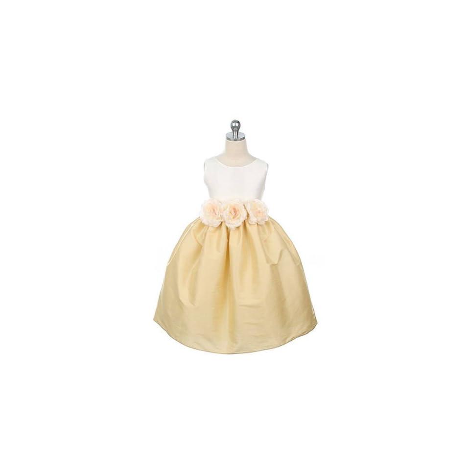 Sweet Kids Girls Ivory Gold Flower Girl Dress 3 6M Sweet Kids Clothing