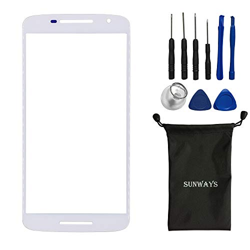 sunways White Glass Lens Screen Repair Part for Motorola Moto X Play XT1563 XT1562 XT1561 with Device Opening Tools -  dy208