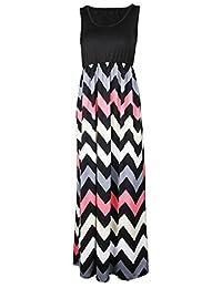 Shinekoo Women Summer Sleeveless Long Maxi Maternity Casual Striped Dress