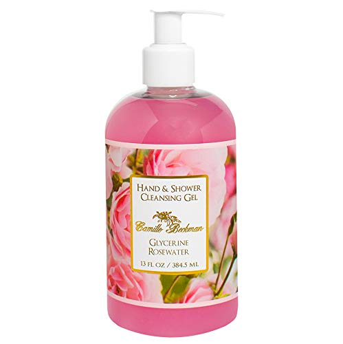 Camille Beckman Hand and Shower Cleansing Gel, Glycerine Rosewater, 13 Ounce
