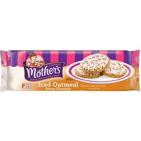Mothers Cookies Iced Oatmeal, 13.25 Oz, Pack of 2 by Mother's