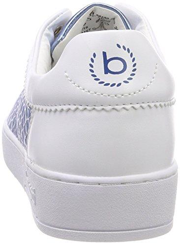 3 421291025059 2040 Delle Bugatti Formatori bianco Blu Bianco Bianco Uk Donne 77qgrX