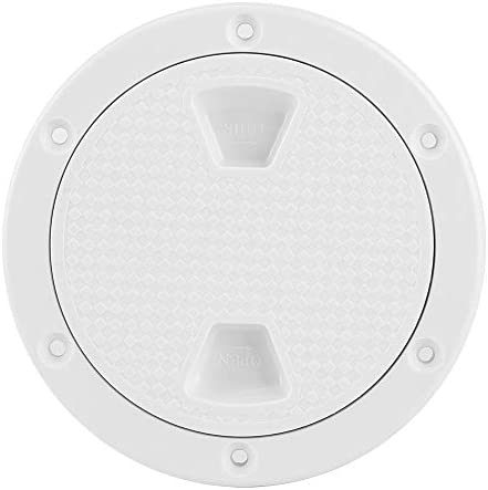 Teror Deck Inspectie Cover4 inch ABS Deck Plate Ronde Witte AntiUV Corrosiebestendige Schroef Out Boot Inspectie Hatch Cover