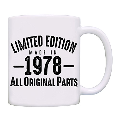 Mug 1978-40th Birthday Gifts Limited Edition Made In 1978 All Original Parts Coffee Mug-1978-0073-White