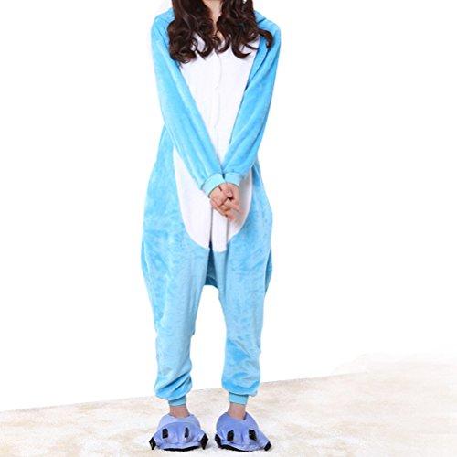 Natale Pagliaccetto Animali caldo Tuta Blu Unisex Cosplay Pigiama Costume Fancy Dress di domestici Adulto con cappuccio Elefante Festa 6fq1fwxz