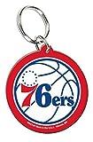 WinCraft NBA Philadelphia 76ers Key Ring, Premium Acrylic