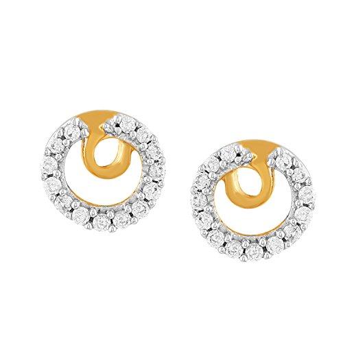 Giantti 14carats Diamant pour femme Boucles d'oreille à tige (0.3656CT, VS/Si-clarity, Gh-colour)