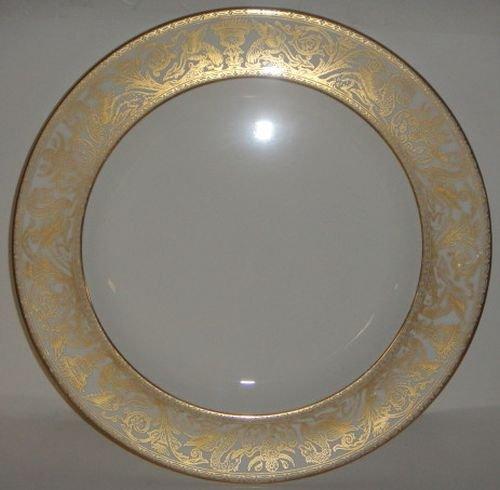 Wedgwood Florentine Gold W4219 Chop Plate / Round (Gold Round Chop)