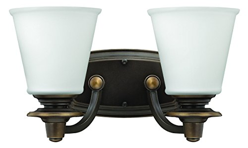 Hinkley 54262OB Traditional Two Light Bath from Plymouth collection in Bronze/Darkfinish, (Bath Plymouth Lighting)