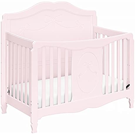 Stork Craft Princess 4 In 1 Convertible Crib Primrose Pink