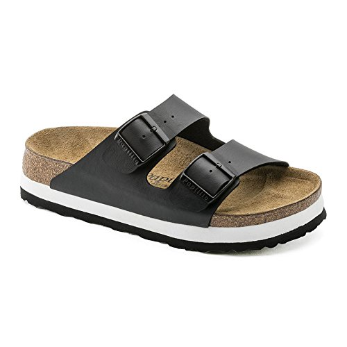 Papillio Womens by Birkenstock Arizona Synthetic Sandals Black