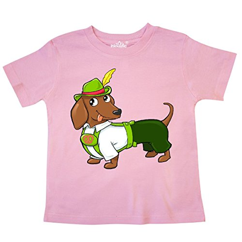 inktastic Cute Brown Dachshund in Traditional German Toddler T-Shirt 3T (Traditional German Boy Clothing)