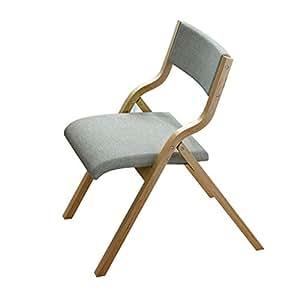 Amazon.com: Wghbd Silla plegable de madera maciza silla de ...