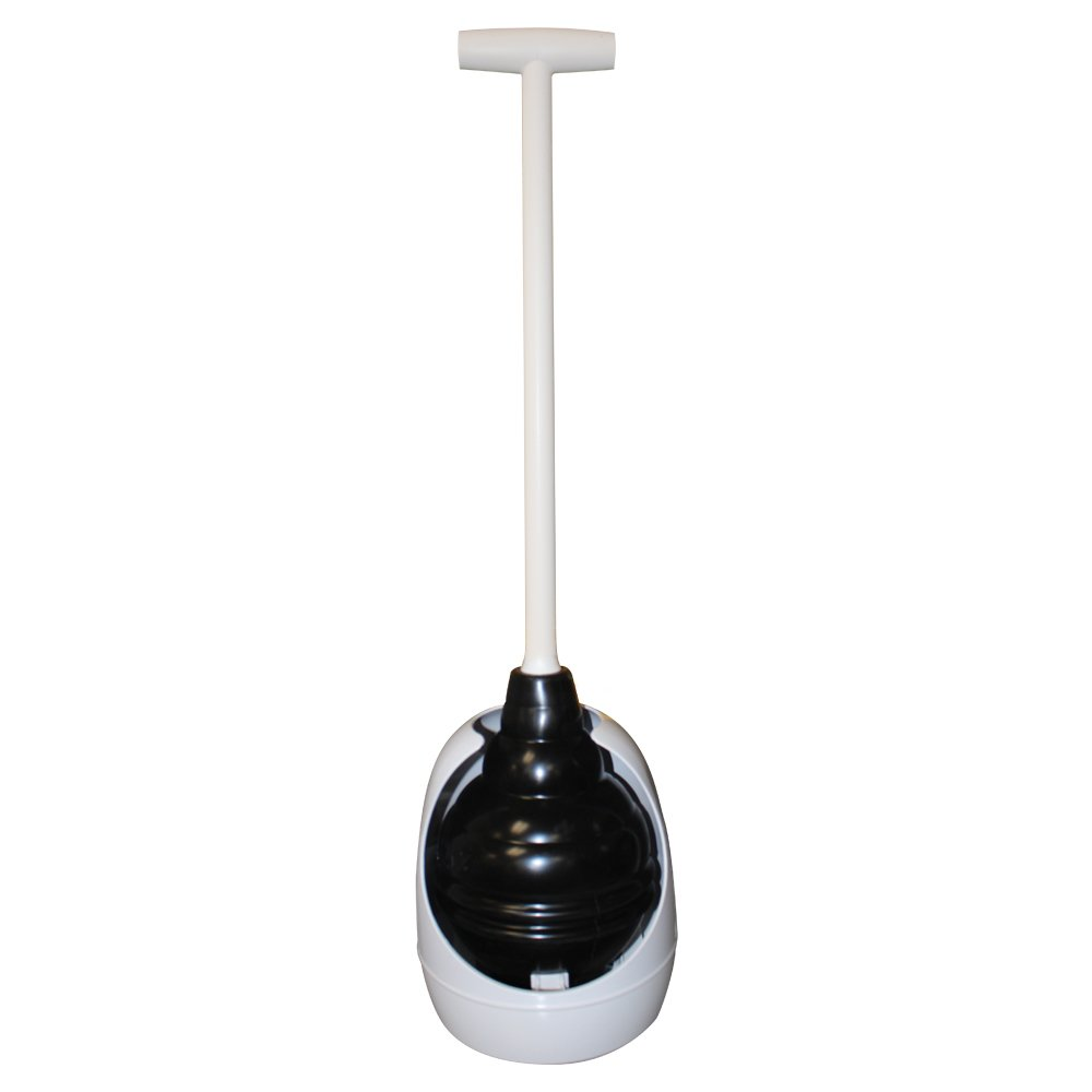 Korky 95-4A Beehive Max Universal Toilet Plunger and Holder - Fits all Old and New Toilets - Powerful Plunge - Easy Grip T-Handle - Made in USA