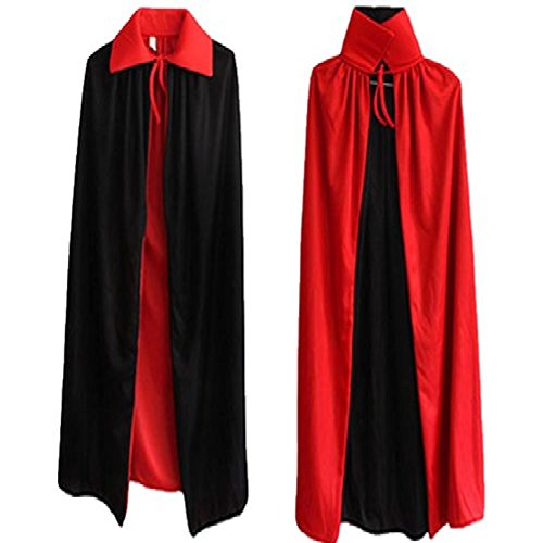 [masquerade Dracula vampire Style Costume [cloak] black red] (Dracula Costumes For Women)