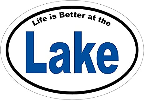 Life is better at the lake vinyl decal sticker great for truck car bumper or