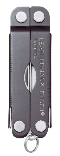 Leatherman - Micra, Keychain Size Multi-Tool, Stainless Steel, Gray