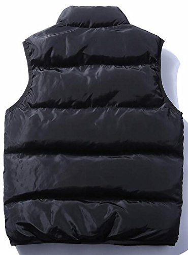 Coats Black Zip Vest Collar UK Lightweight today Men's Padded Puffer Up Stand Quilted qw7npPOf