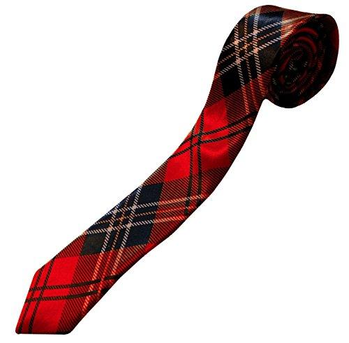 Red and Black Tartan Tie