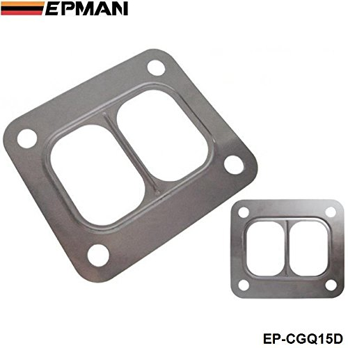 EPMAN T4 Turbo Turbine inlet divided gasket Stainless Steel304 Gasket For T04 turbo HQ turbo inlet gasket EP-CGQ15D Bo Luo