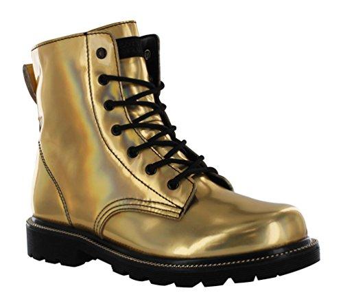 Gotta Flurt Luna Boot, Gold/Black, Size 7.5 -