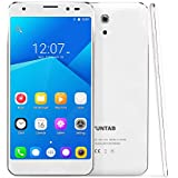 YUNTAB 2018 5 Inch S505 Android 6.0 Unlocked Smartphone 4G LTE Quad-core 2GB / 32GB Touchscreen HD 720 x 1280 Dual SIM Slots Cellphone with Dual Camera GPS (S505-White)