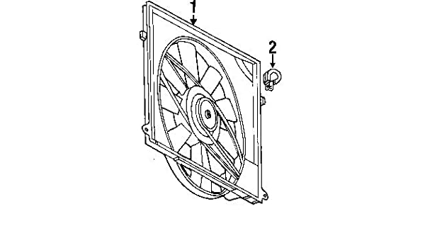 amazon com: mercedes-benz 220 500 02 93, engine cooling fan assembly:  automotive