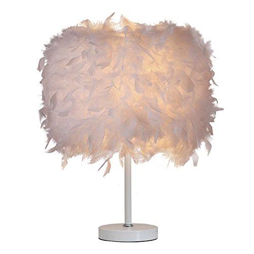 Lite Casa plumas lámpara de mesa noche lámpara de mesa blanco ...