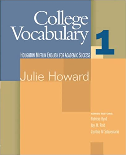 College Vocabulary: Student Text Bk. 1 (English for Academic Success)