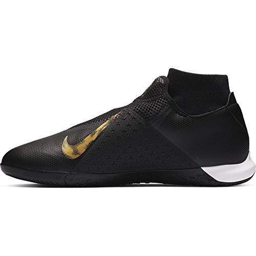 Nike Men's Phantom VSN Academy DF in-Black/Gold (10) (Soccer Gold Mens Indoor Shoes)