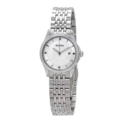 Bulova womens 96P160 14mm Stainless Steel Silver Watch Bracelet