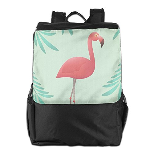and Cute Storage Dayback Camping For Women Personalized Men Outdoors Adjustable HSVCUY Strap Flamingo Travel Shoulder Pink Backpack School nAgBFqwF